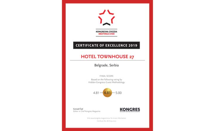 GOLD FOR ACCOMMODATING GUESTS TRAVELING ON ON BUSINESS 2019